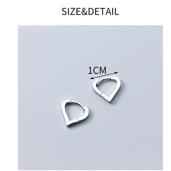 Sterling Silver Tiny Triangle Hoop Earrings - 925 Real Silver Earrings - Playful Silver Earrings Lux & Rose