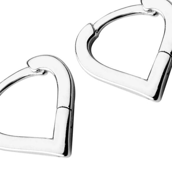 Sterling Silver Tiny Triangle Hoop Earrings - 925 Real Silver Earrings - Playful Silver Earrings Lux & Rose Default Title