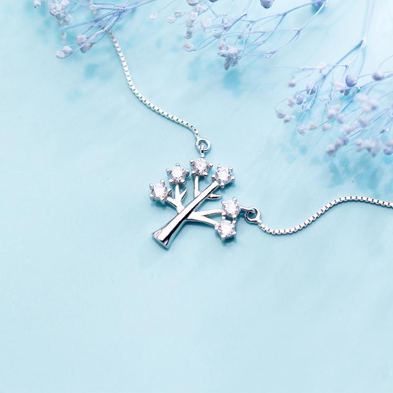 Sterling Silver Tree Pendant Necklace - 925 Real Silver Necklace - Classic Silver Necklace Lux & Rose
