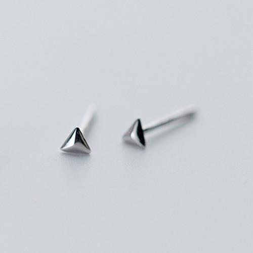 Sterling Silver Triangle Star Square Stud Earrings - 925 Stud Earrings - 925 Real Silver Stud Earrings - Star Stud Earrings - Square Stud Earrings - Triangle Stud Earrings Lux & Rose 1 Pair Triangle