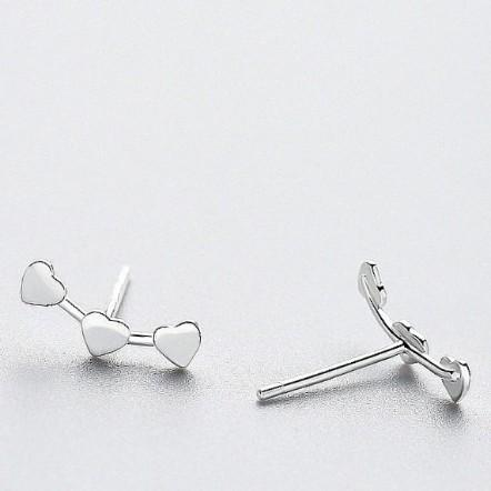 Sterling Silver Triple Stud Earrings - 925 Stud Earrings - 925 Real Silver Earrings - Playful Silver Earrings Lux & Rose Default Title