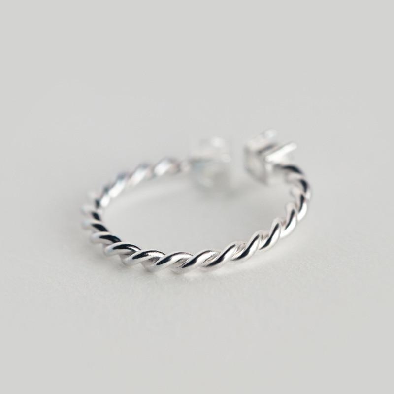 Sterling Silver Twist Cocktail Ring - 925 Real Silver Ring - Classic Silver Ring - Adjustable Cocktail Ring Lux & Rose
