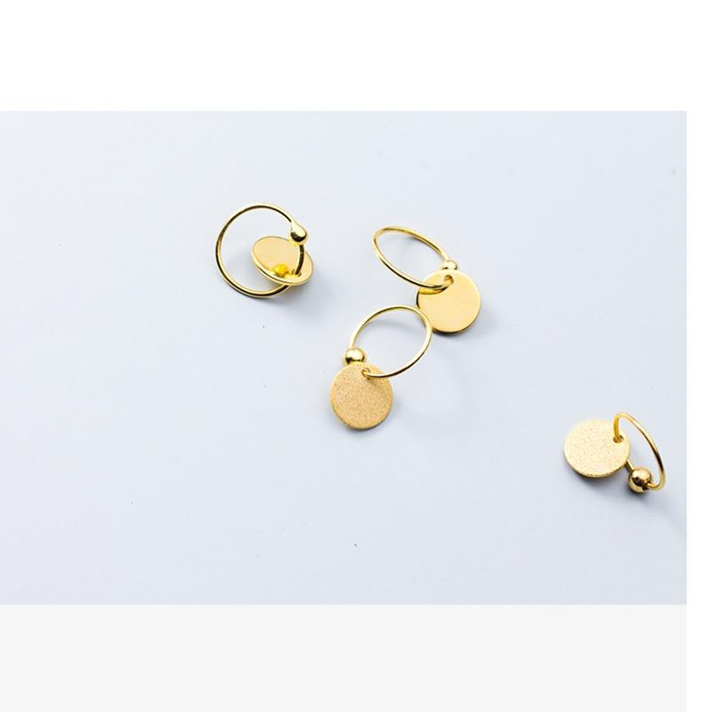 Sterling Silver Wafer Hoop Earrings - 925 Real Silver Earrings - Gold Filled Hoop Earrings - Silver Disc Earrings - Gold Disc Earrings - Grind Disc Earrings - Smooth Disc Earrings Lux & Rose