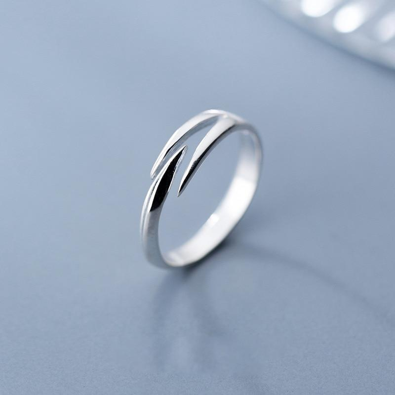 Sterling Silver Wrap Ring - 925 Real Silver Ring - Classic Silver Ring - Adjustable Silver Ring Lux & Rose