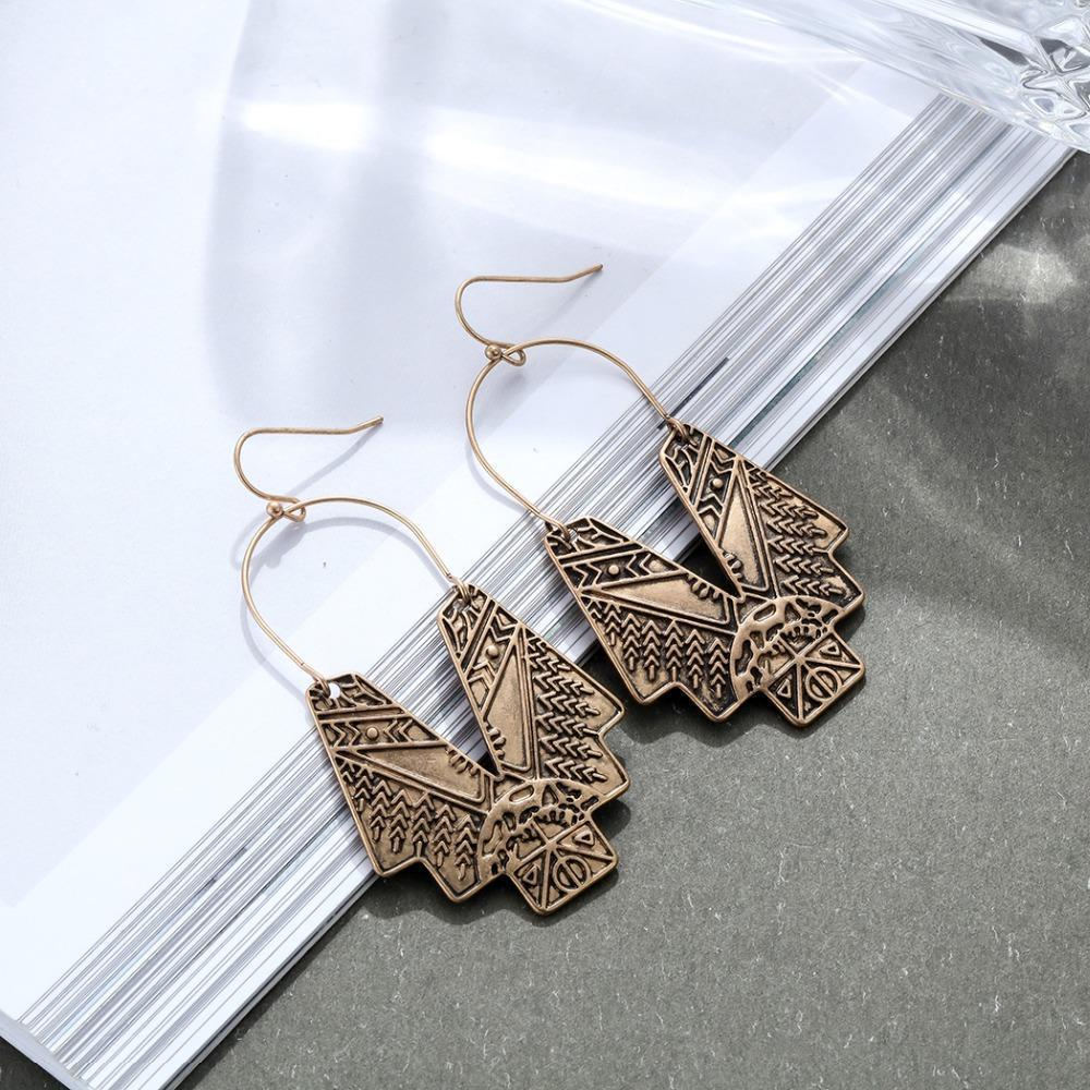 Vintage Tribal Spiritual Dangle Earrings - Dangle Earrings - Vintage Dangle Earrings - Tribal Spiritual Earrings - Vintage Dangle Pendant Earrings - Pendant Earrings - Geometric Earrings Lux & Rose