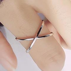 Sterling Silver X Hollow Cross Ring - 925 Real Silver Ring - Classic Silver Ring - Adjustable Cocktail Ring