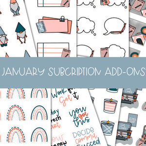 JANUARY SUBSCRIPTION ADD - ONS