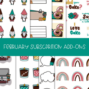 SUB02-09| FEBRUARY SUBSCRIPTION ADD -ONS