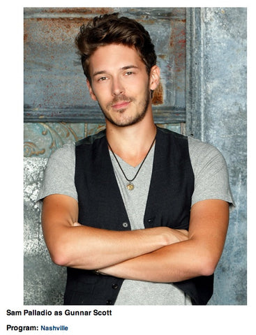 BRIAN CARLSON Cross Pendant - Sam Palladio on Nashville