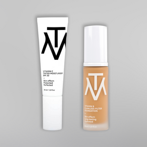 Vitamin B Flawless Filter Foundation & Vitamin C Tinted Moisturiser Set
