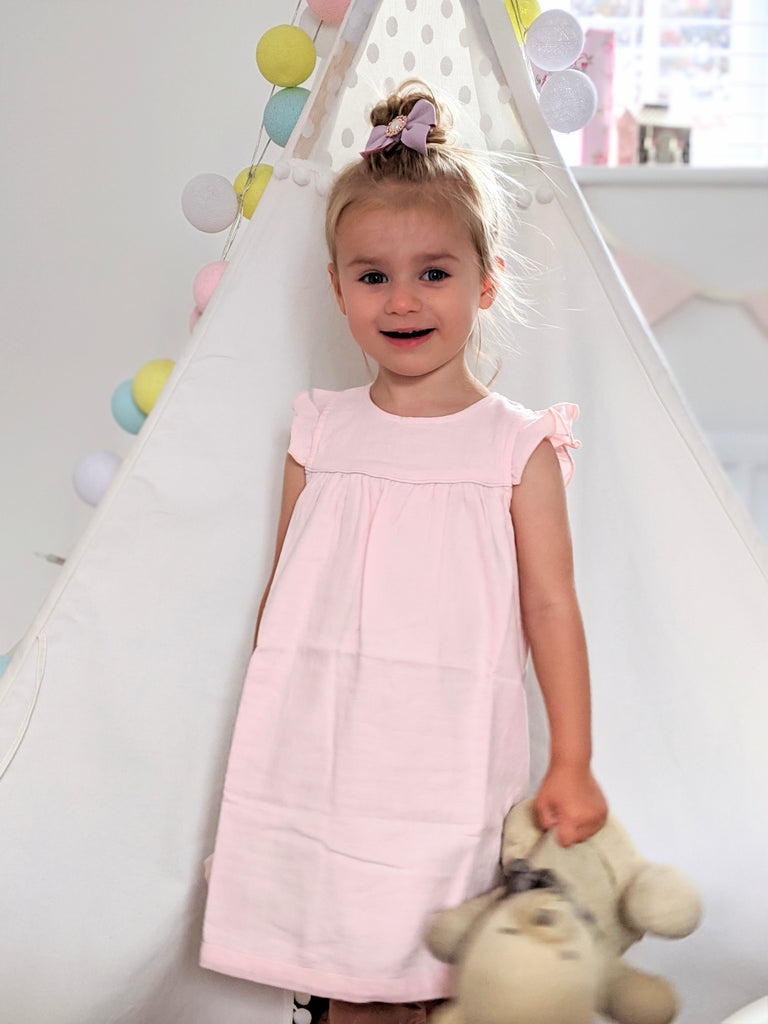 Pink Organic Muslin Shift Dress | Pigeon Organics - Just Add Milk