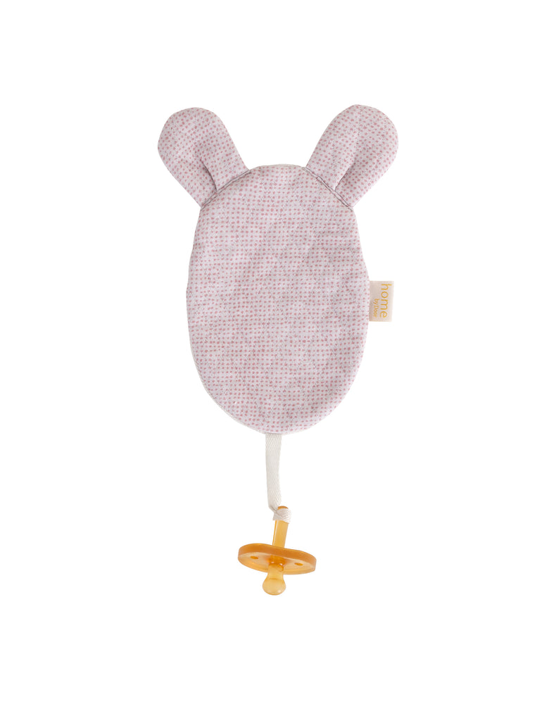 Luxury Mouse Organic Dummy Cloth- Sand/Soft pink - Just Add Milk