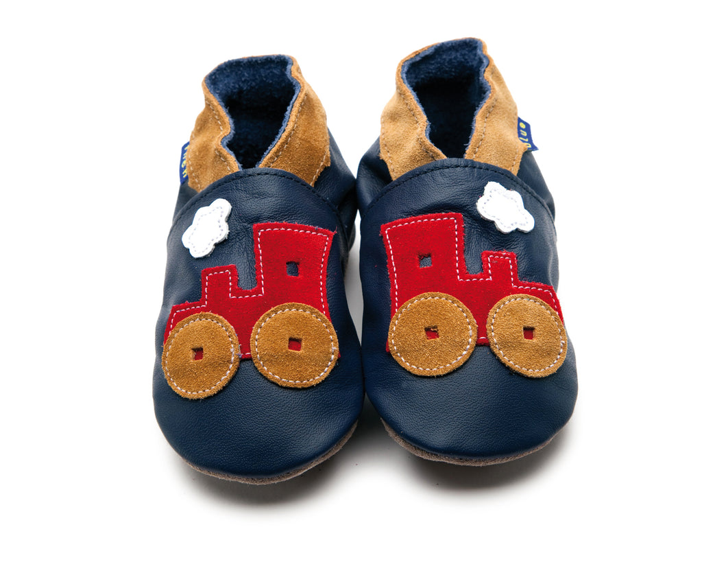 Toot Train Shoes - Small, Med, Large, XL Inch Blue - Just Add Milk