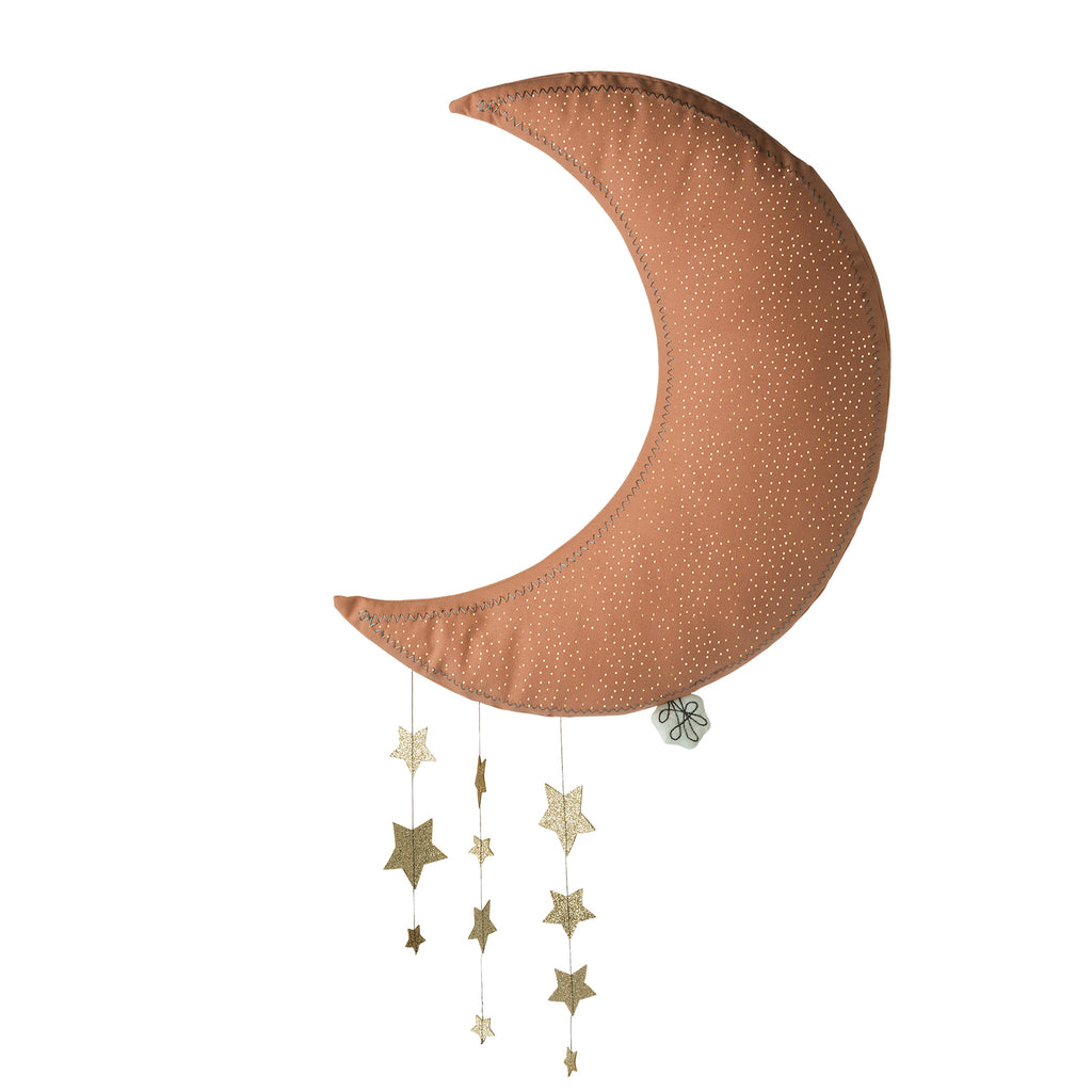 Pink hanging moon with stars Picca Loulou