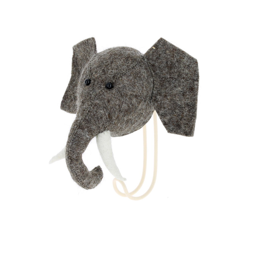 Single Hook Elephant Head Fiona Walker