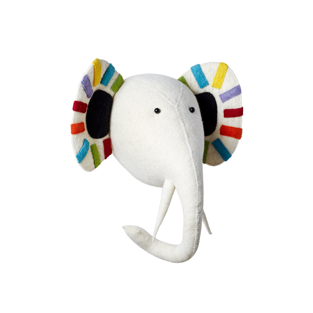 Pastel Safari Elephant Head - Wall Mounted (semi) | Fiona Walker - Just Add Milk