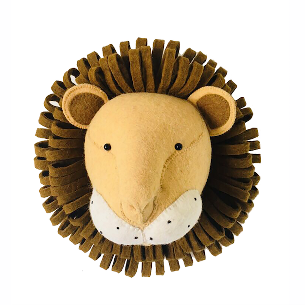 Lion Head Wall Mounted (Mini) | Fiona Walker England - Just Add Milk