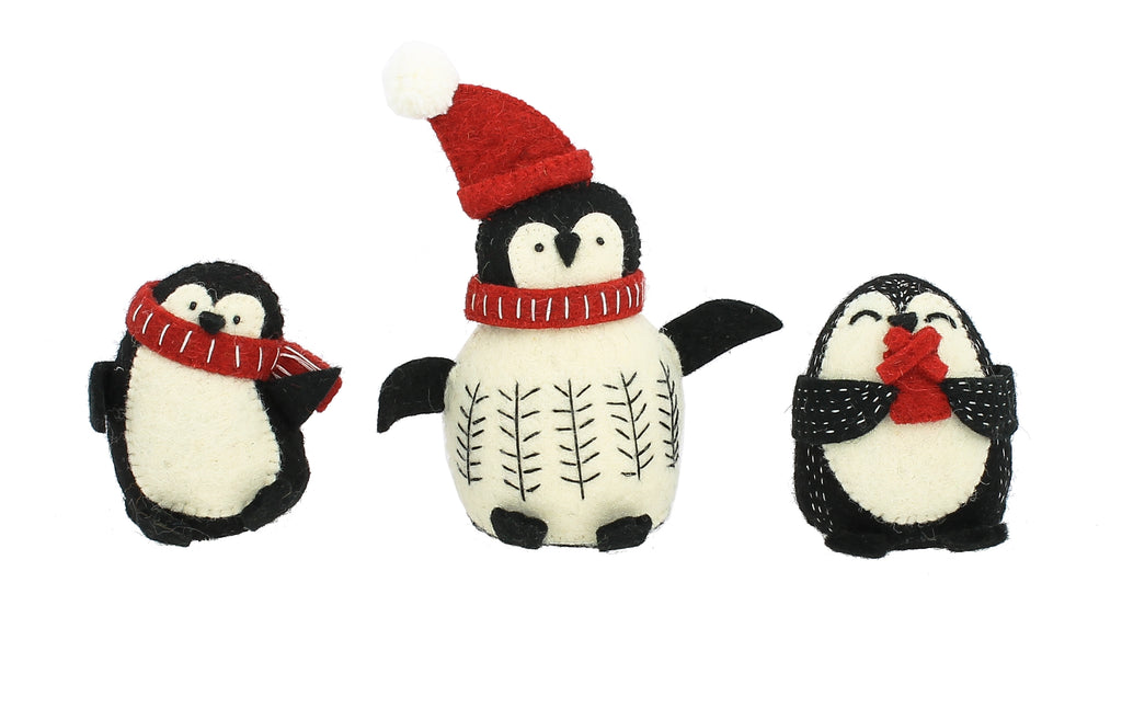 Christmas Standing Penguins - set of three | Fiona Walker - Just Add Milk