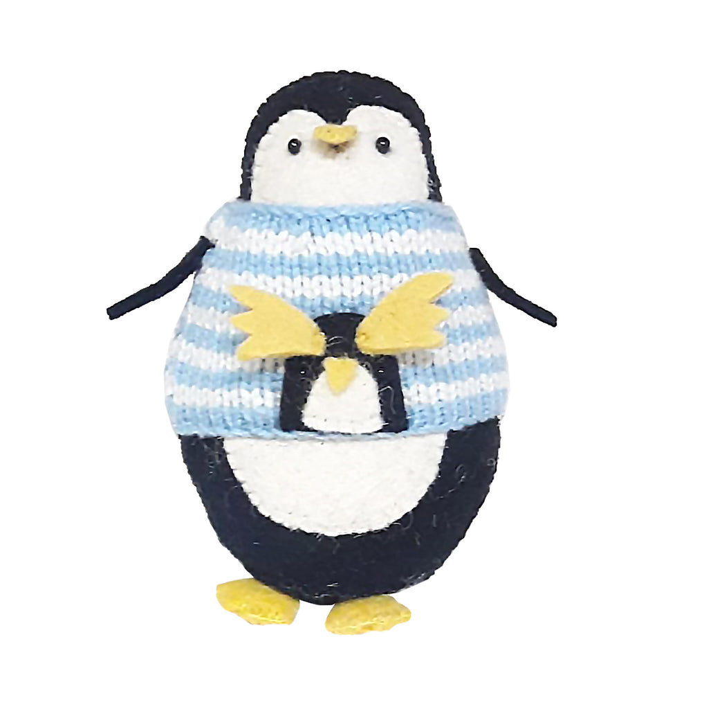 Standing Penguin with Cute Christmas Jumper | Fiona Walker