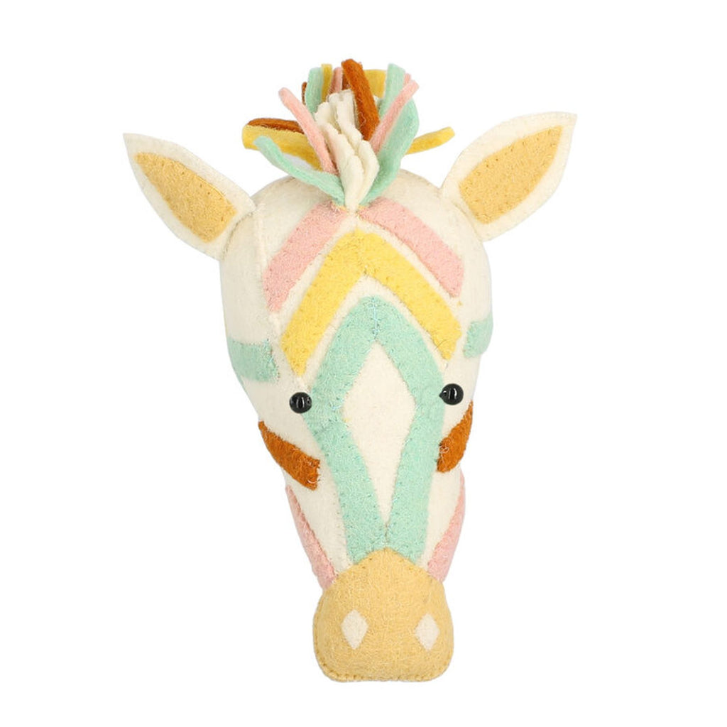 Natural Pastel Zebra Head | Fiona Walker - Just Add Milk