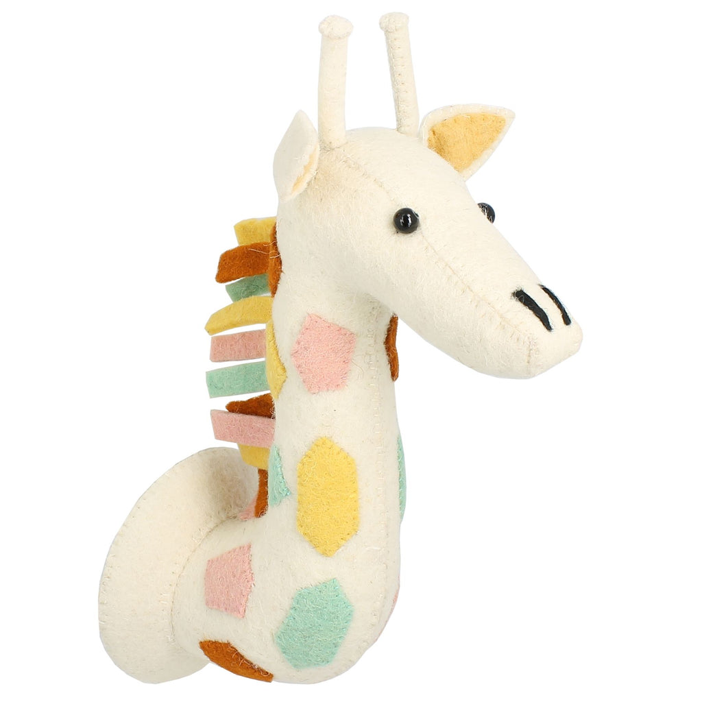 Natural Pastel Giraffe Wall Mounted Head | Fiona Walker England - Just Add Milk