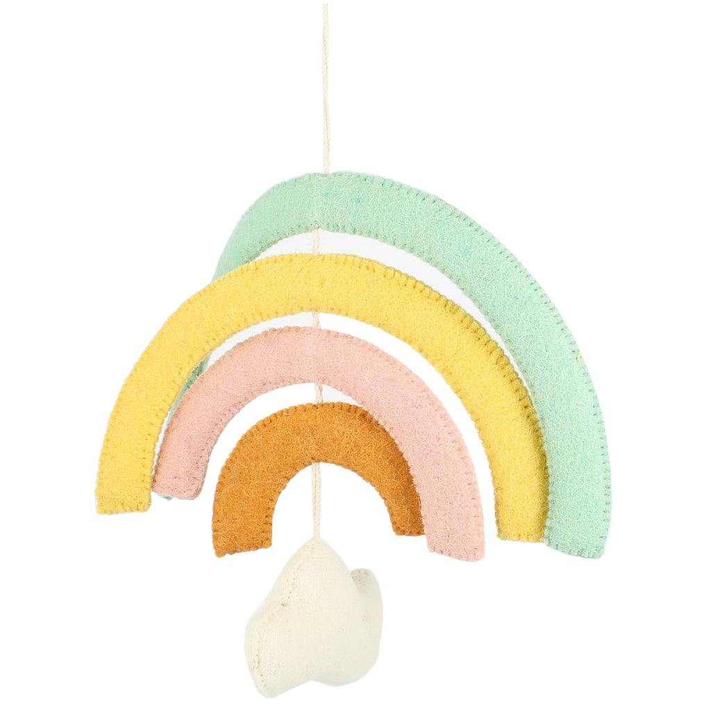 Natural Pastel Rainbow & Cloud Mobile | Fiona Walker - Just Add Milk