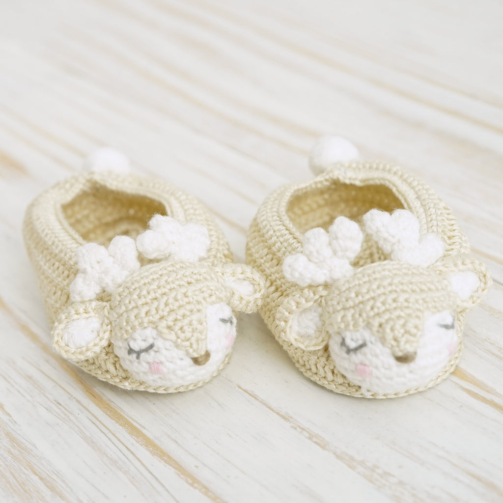 NEW Crochet Fawn Booties | Albetta - Just Add Milk