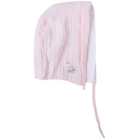 Light Pink Muslin Lace Bonnet | Albetta
