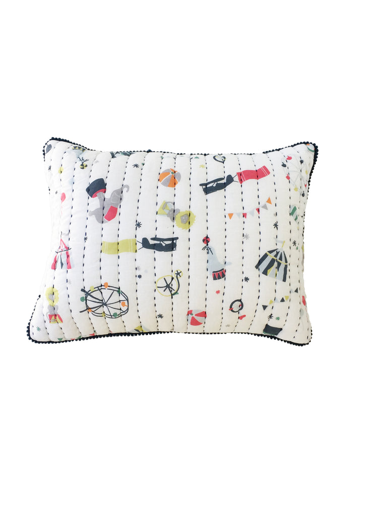 Nursery Cushion - Big Top Print | Pehr - Just Add Milk