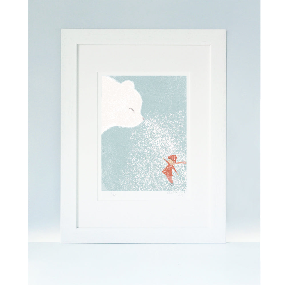 'BLESS YOU'  A4 Mounted Print by Little Lellow - Just Add Milk