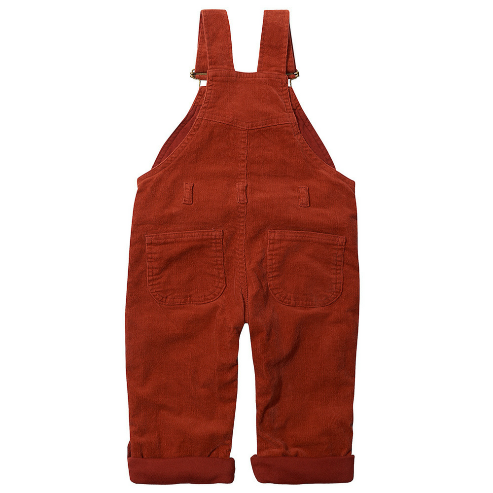 Dotty Dungarees | Brick Red Classic Corduroy Dungarees (Sale) - Just Add Milk
