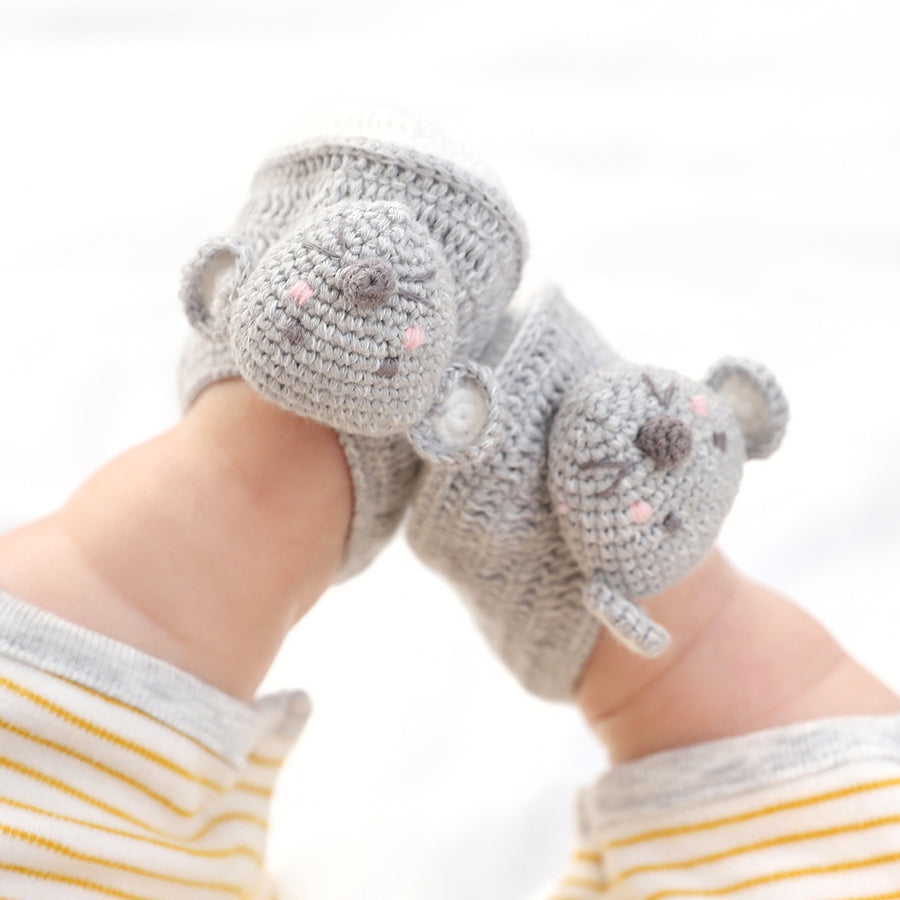 Crochet Mouse Booties | Albetta