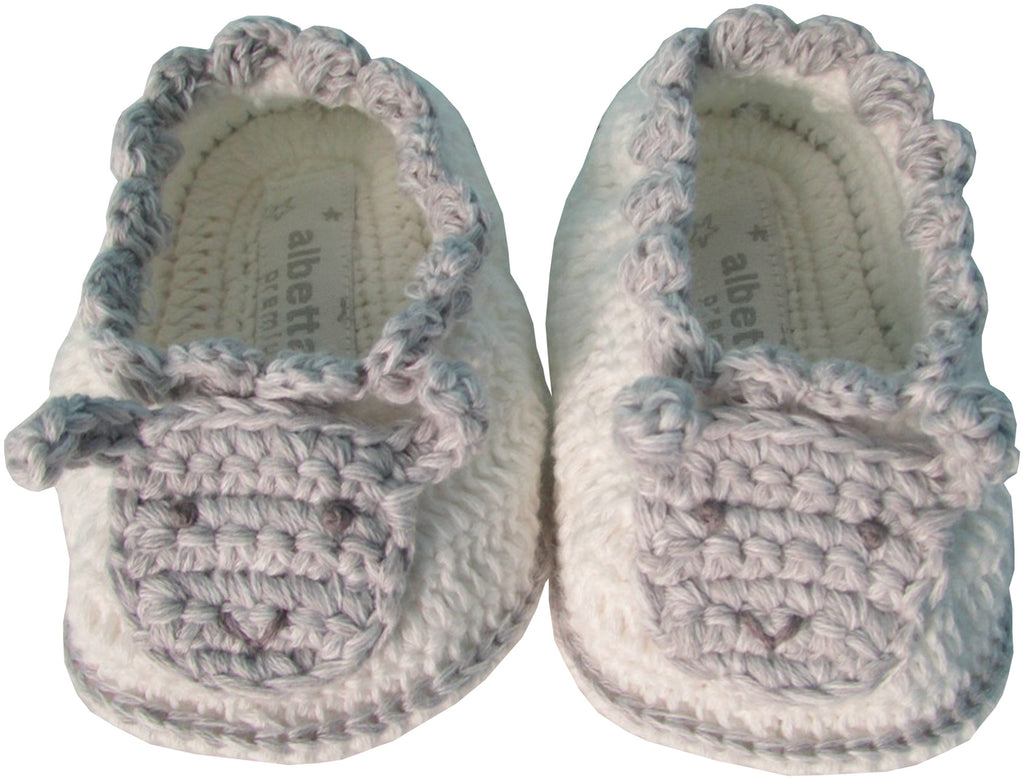 Albetta crochet marl sheep booties