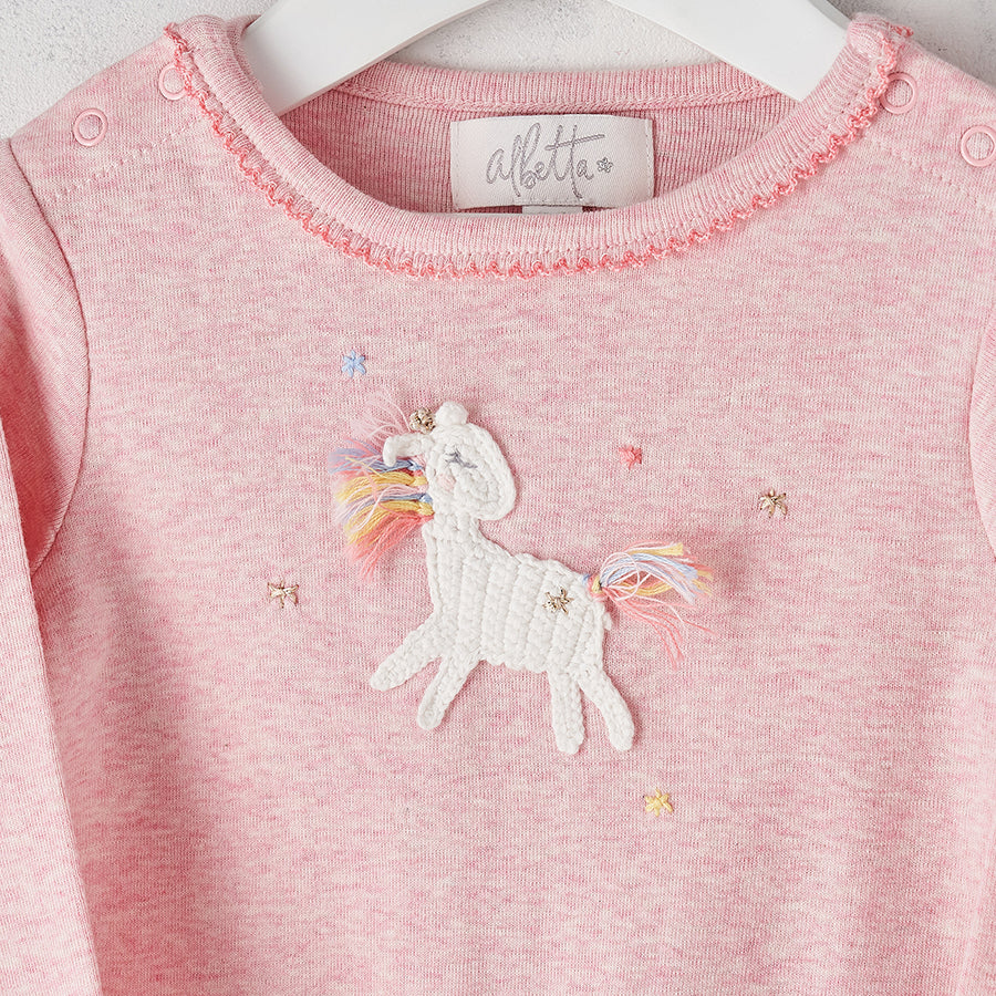 Crochet Unicorn Star Babygrow | Albetta - Just Add Milk
