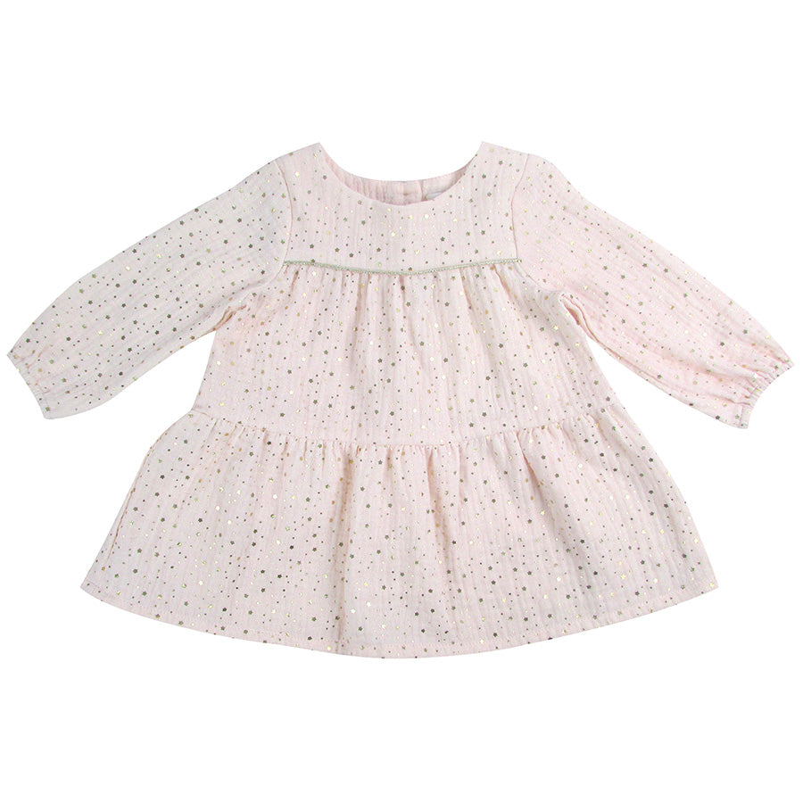 Gold Star Muslin Pink Dress | Albetta