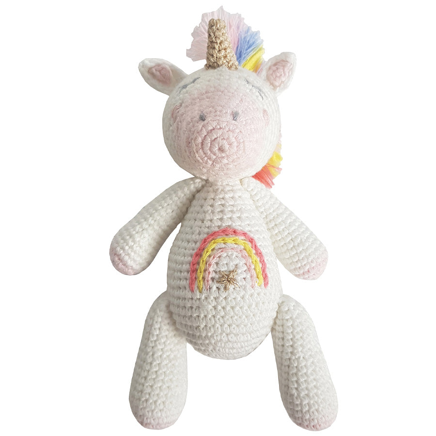 Crochet Unicorn Star Rattle Toy | Albetta - Just Add Milk