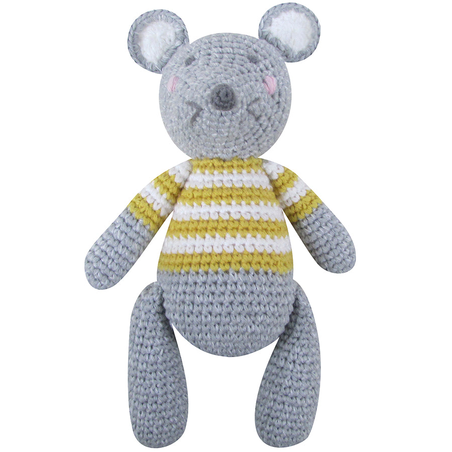 Mouse Soft Toy Rattle | Albetta