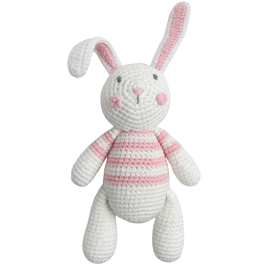 Crochet Bunny Rattle Toy | Albetta
