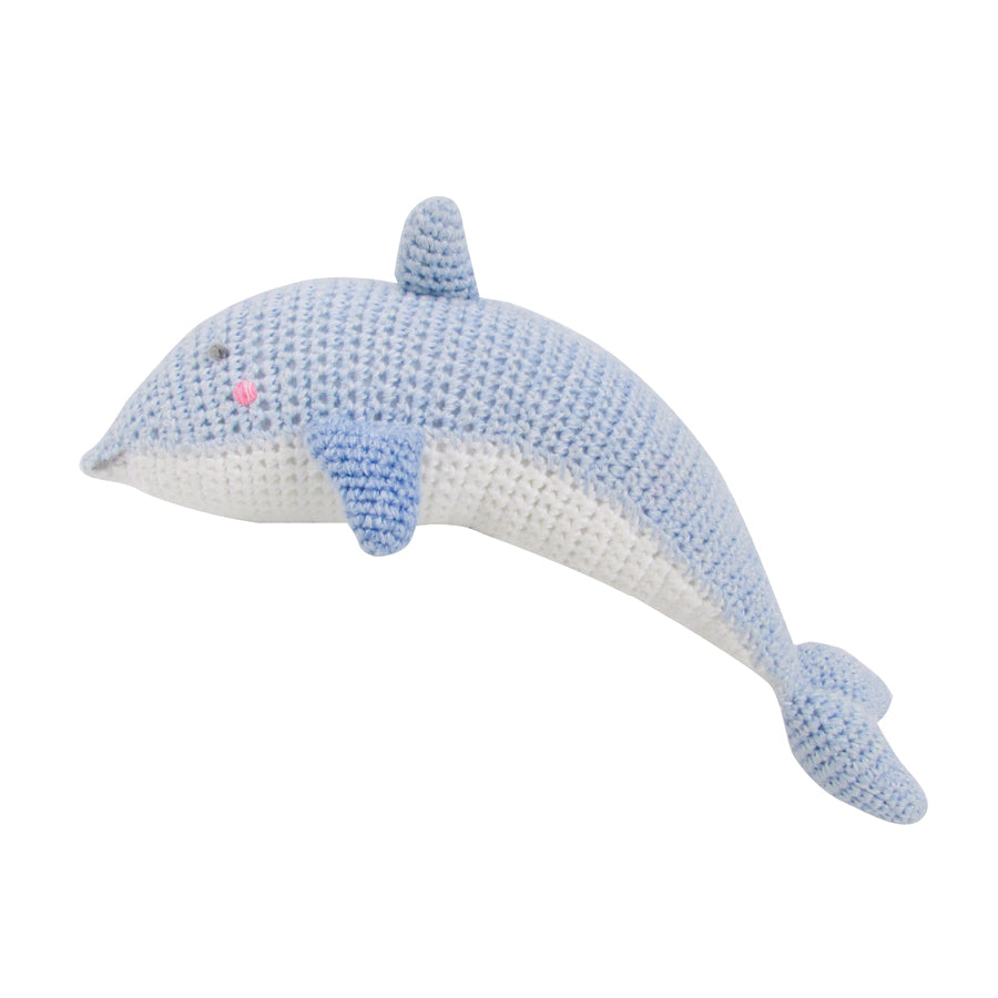 Crochet Dolphin Rattle Toy | Albetta - Just Add Milk