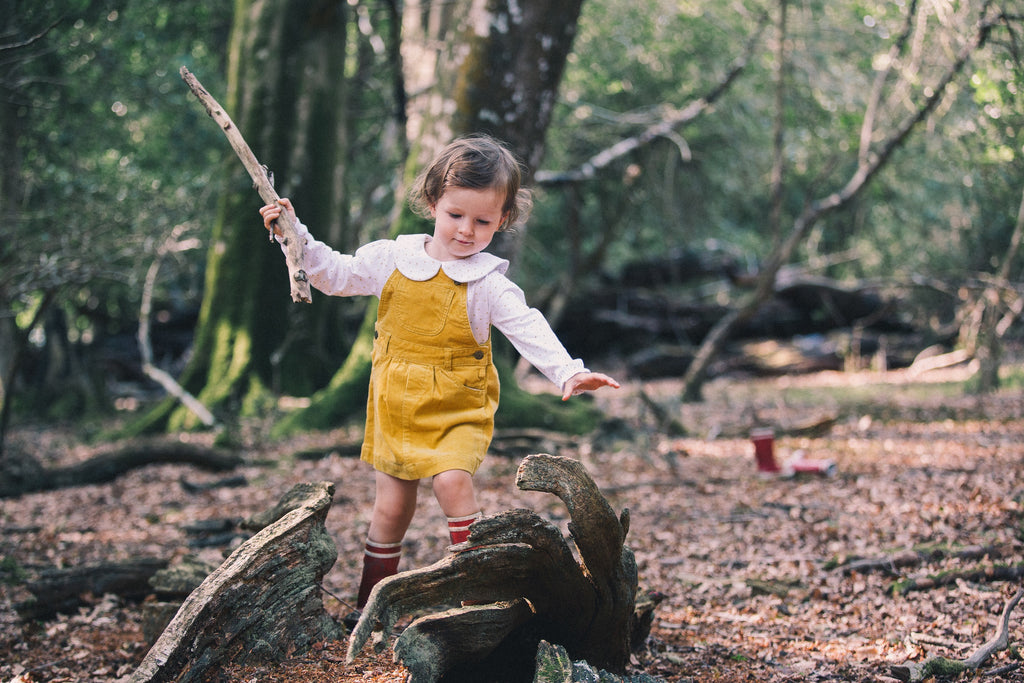 Ochre Cord Dress | Dotty Dungarees