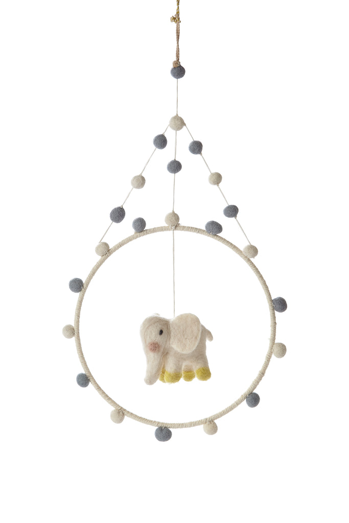 New Elephant Mini Hoop Mobile | Pehr - Just Add Milk
