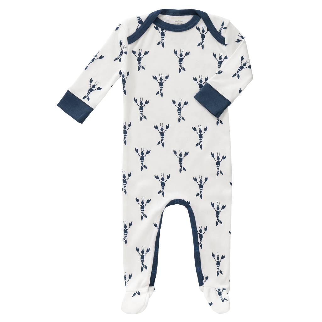 Lobster Print Baby Pyjama With Feet: Fresk