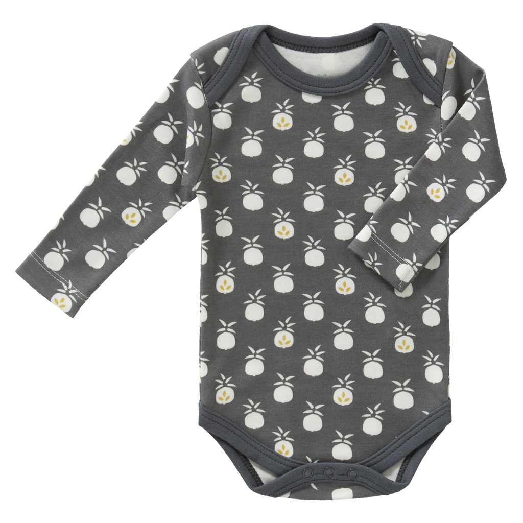 Organic Cotton Bodysuit in Pineapple Print: Fresk - Just Add Milk