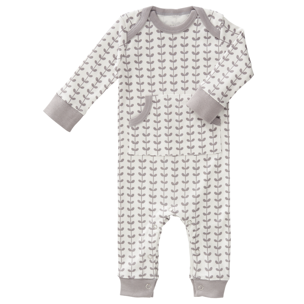 Grey Leaves Organic Pyjamas: Fresk