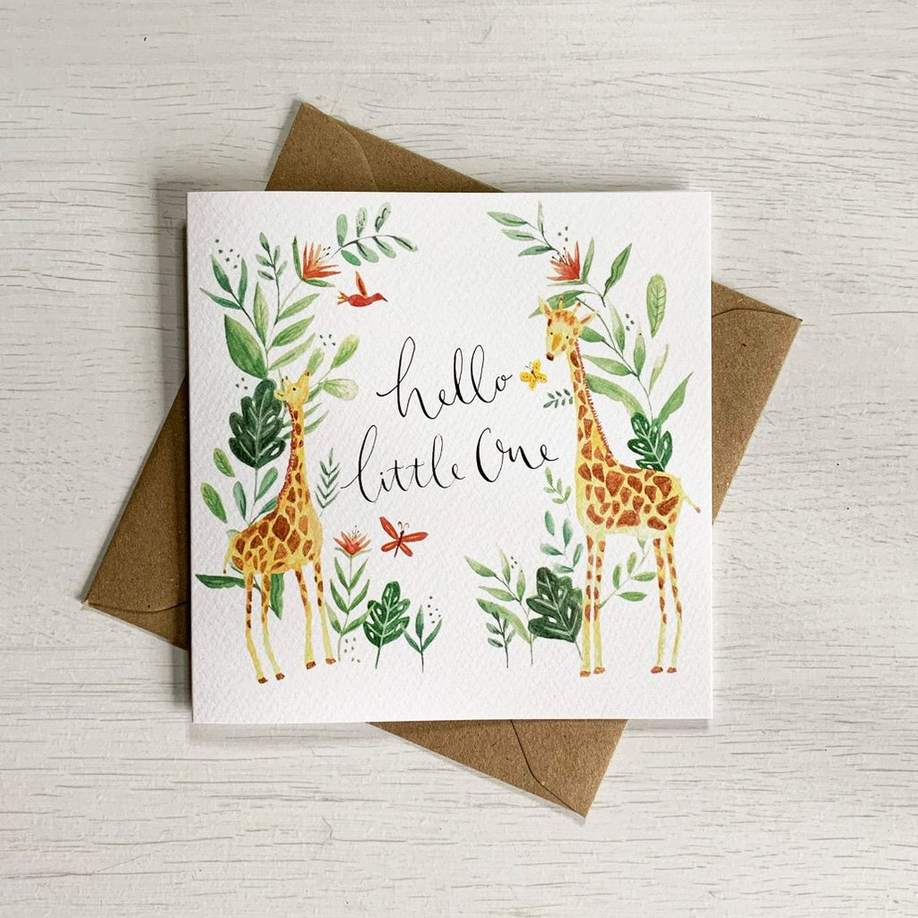 Hello Little One Baby Card - Giraffe | Sage & Heart