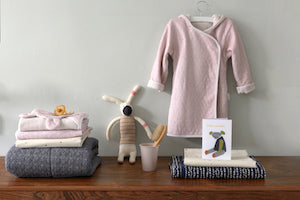 Luxury Organic Bathrobe- sand/pink, (2-4 years) - Just Add Milk