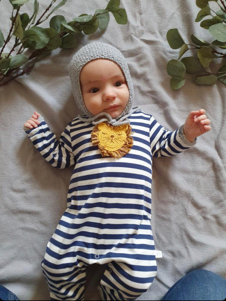Crochet Lion Babygrow | Albetta - Just Add Milk