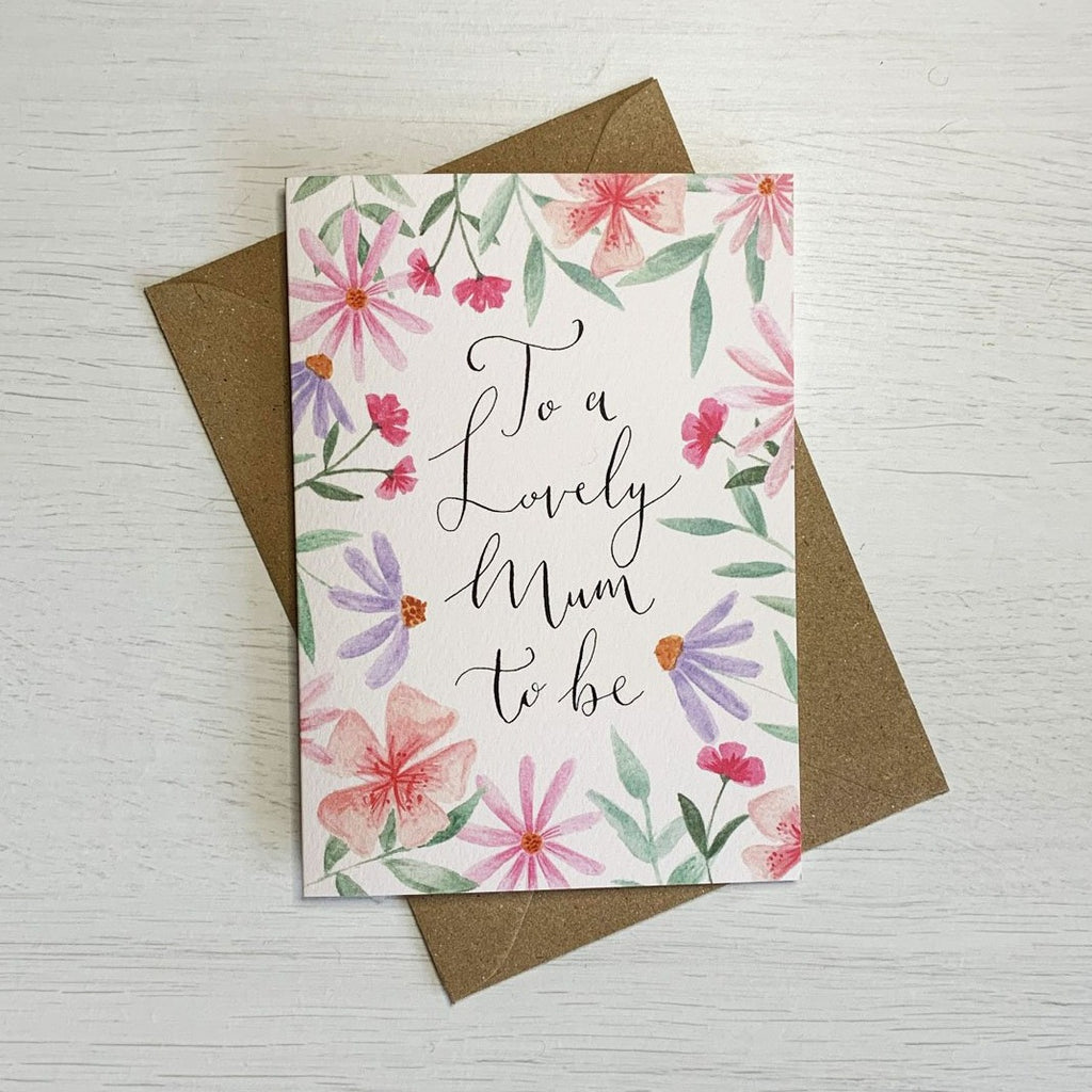 """To a Lovely Mum to be"" - Card 