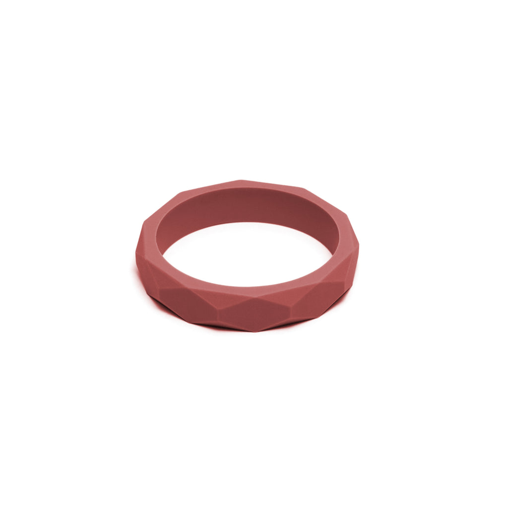 Lara & Ollie Maroon Teething Bangle