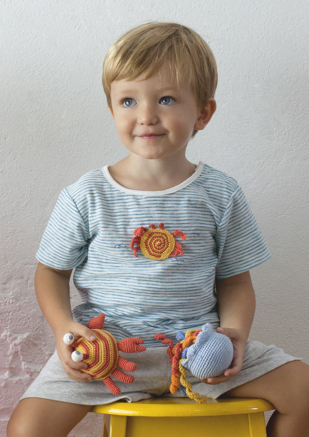 Crochet Crab T & Short Set | Albetta - Just Add Milk